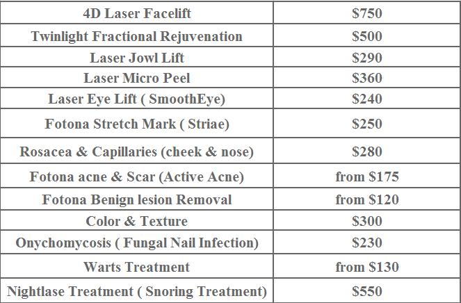 Fotona laser cost